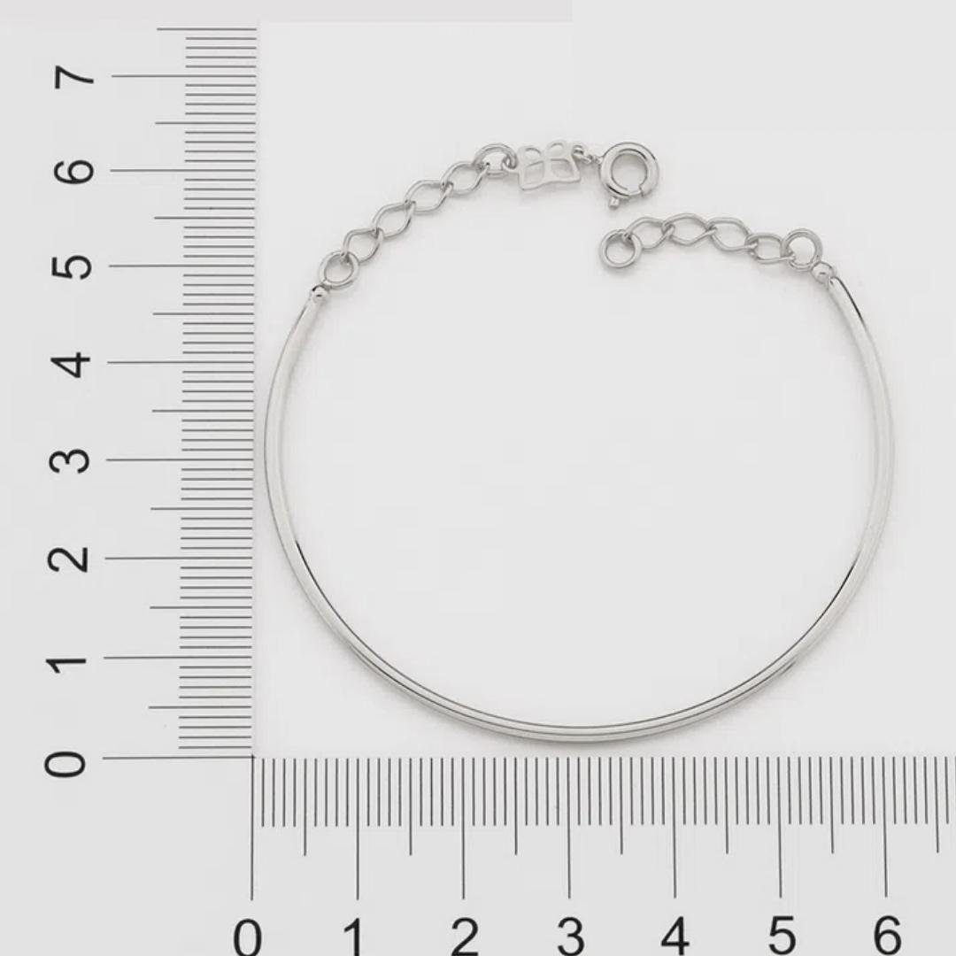 Bracelete Rommanel Liso folheado a ouro 551685