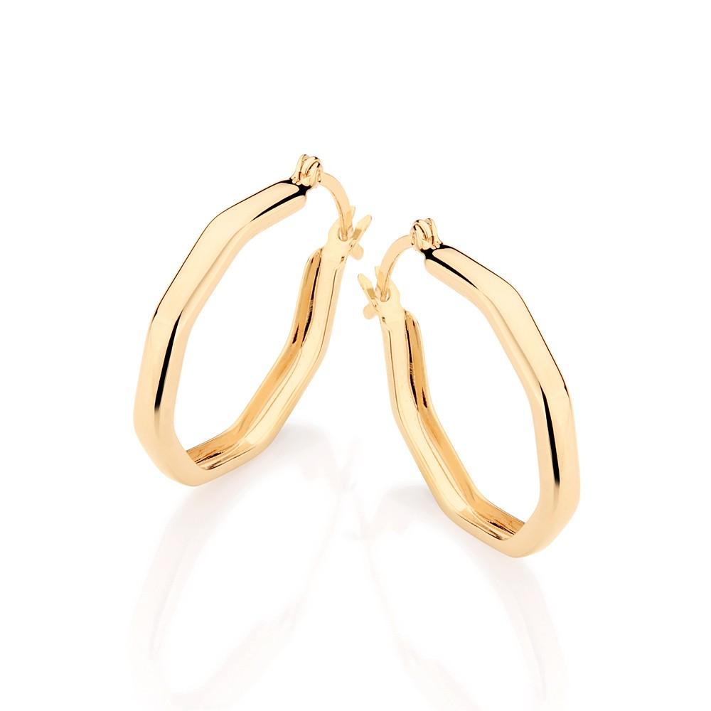 Brinco Argola folheado a ouro formato rommanel 520903
