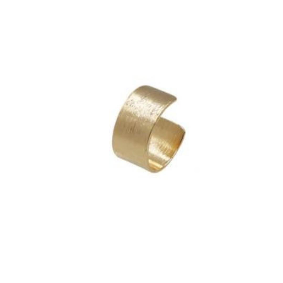 Brinco Argola GC e Piercing Escovado Folheado a Ouro CR77267728BPD