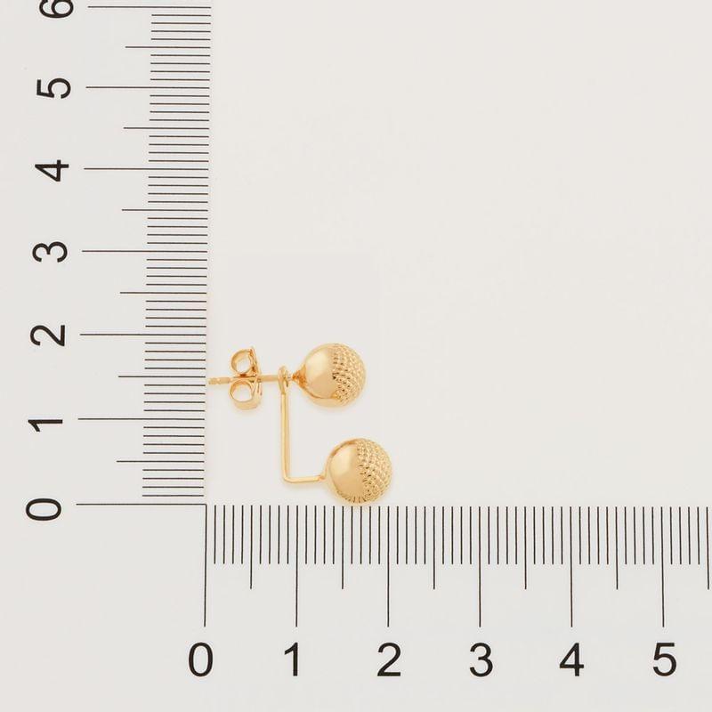 """Brinco """"ear jacket"""" formado por bolas folheado a ouro 525726"""