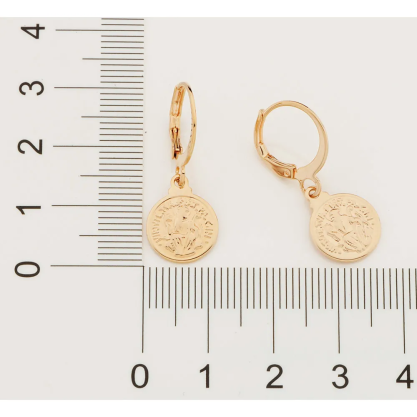 Brinco Rommanel são bento 526457 med. 2,8 x 1,30 cm