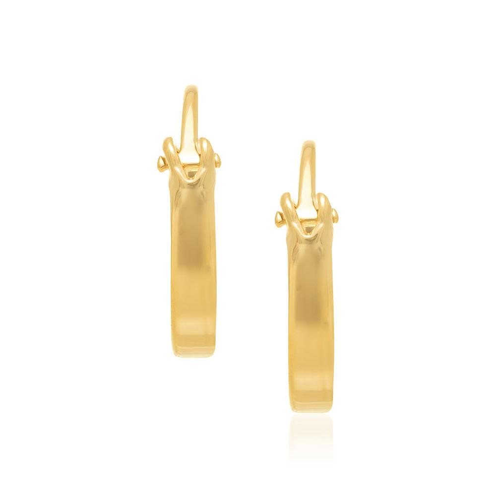 Brinco folheado a ouro argola Rommanel 520293