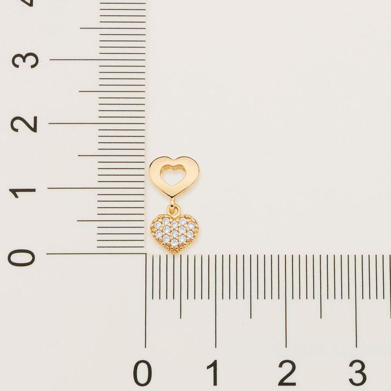Brinco folheado a ouro com zircônias rommanel 525714