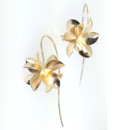 Brinco GC Flores 3D Folheado a Ouro CR7474BRDR
