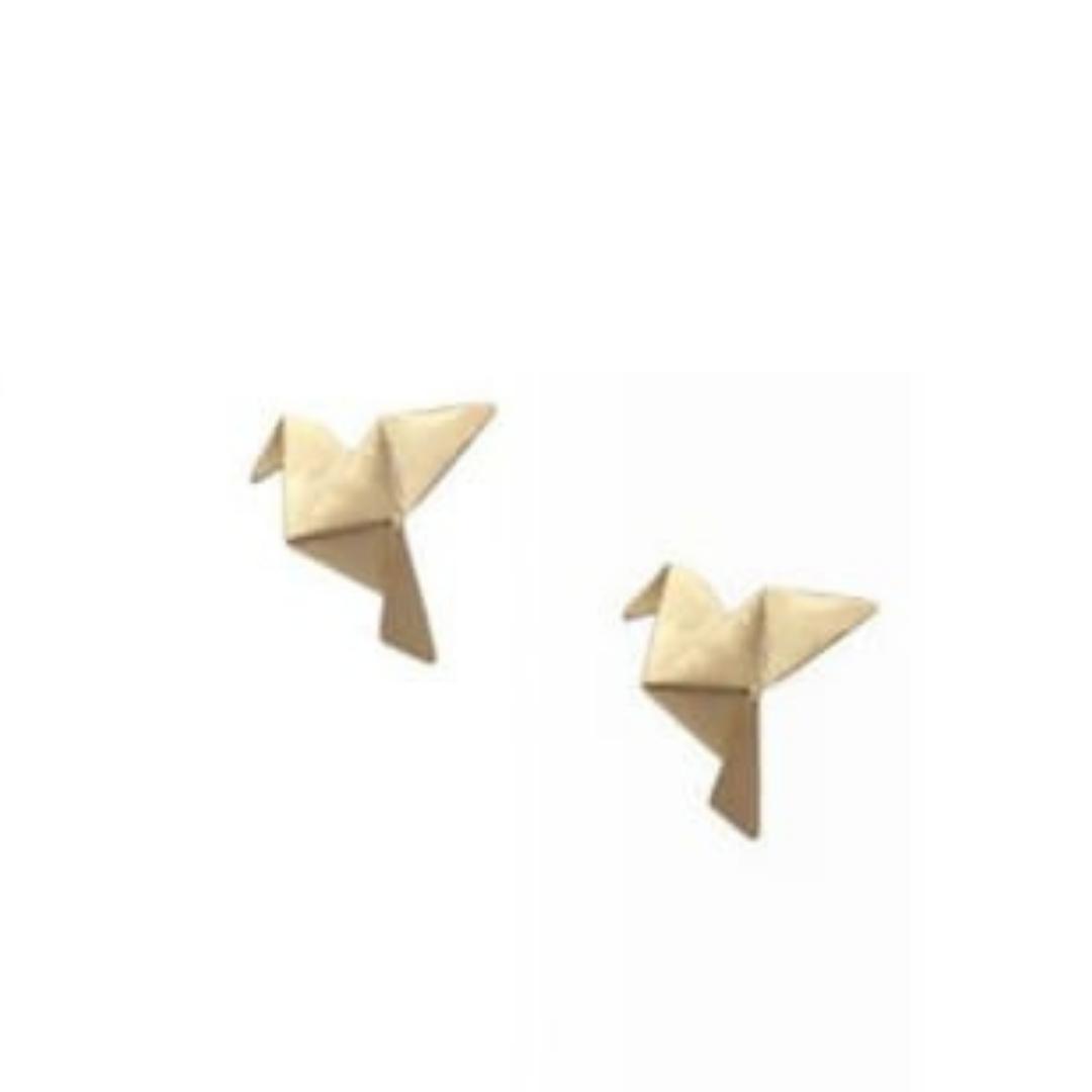 Brinco GC Origami Tsuru Folheado a Ouro CR7691BRRDR