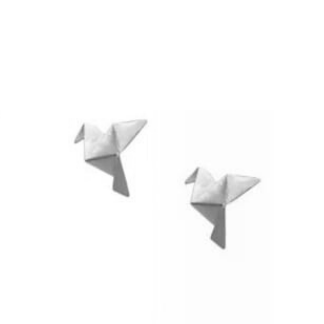 Brinco GC Origami Tsuru Folheado a Rhodium CR76911BRRH
