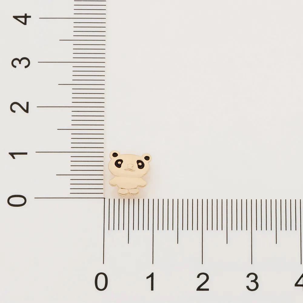 Brinco infantil rommanel 526388 urso panda med. 0,9 x 0,90 cm