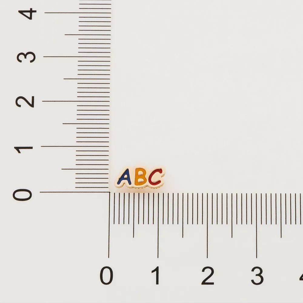 Brinco Rommanel infantil 526417 abc med. 0,5 x 1,0 cm