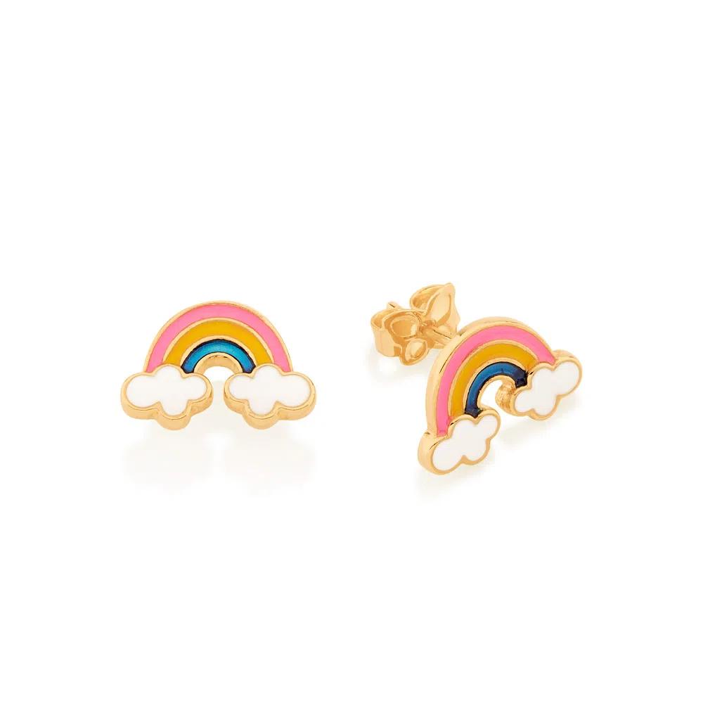 Brinco Rommanel infantil arcoíris 526500 med. 1,0 x 1,30 cm