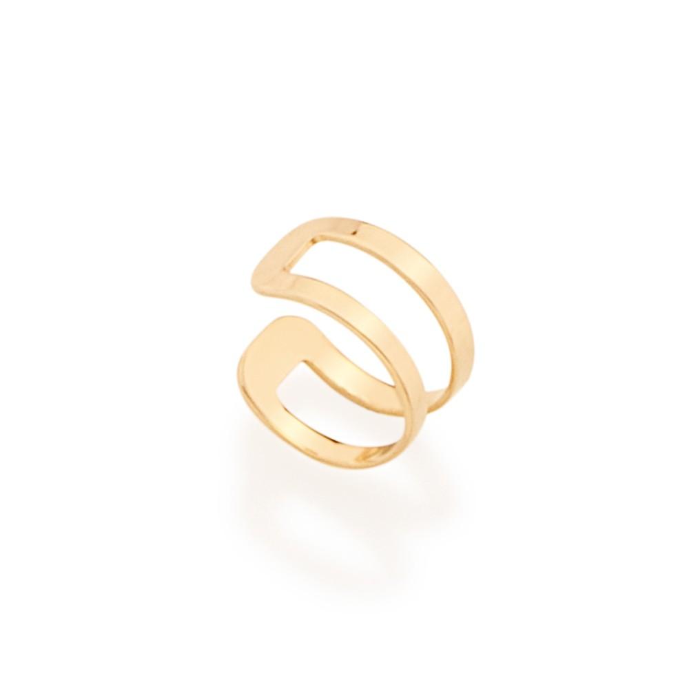 Brinco piercing de pressão rommanel folheado a ouro 526091