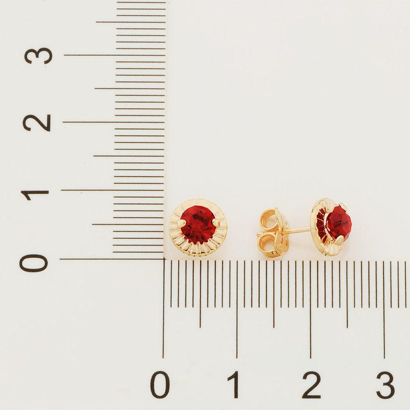 Brinco Rommanel 524473 Solitário com cristal folheado a ouro