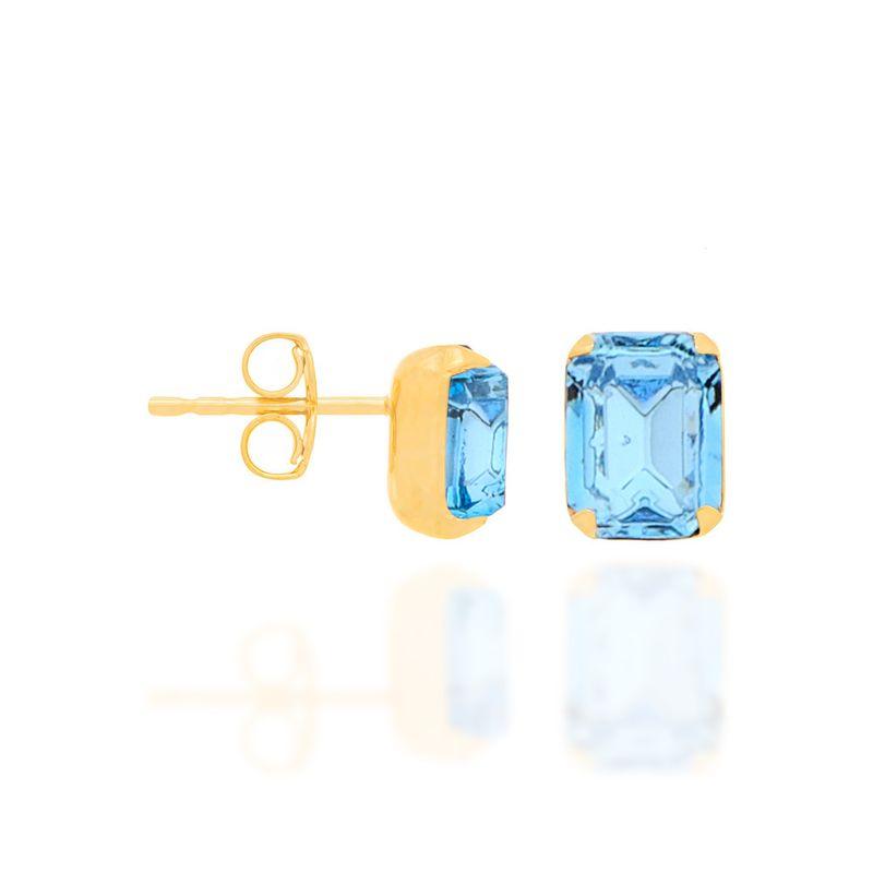 Brinco Rommanel cristal quadrado 52057703