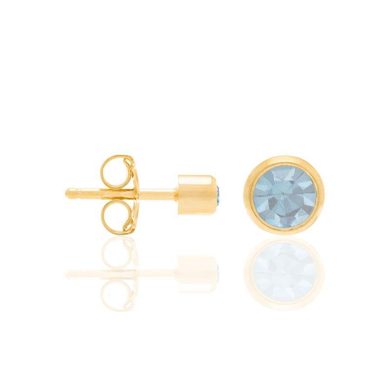 Brinco Solitário Rommanel Cristal Azul 52517903