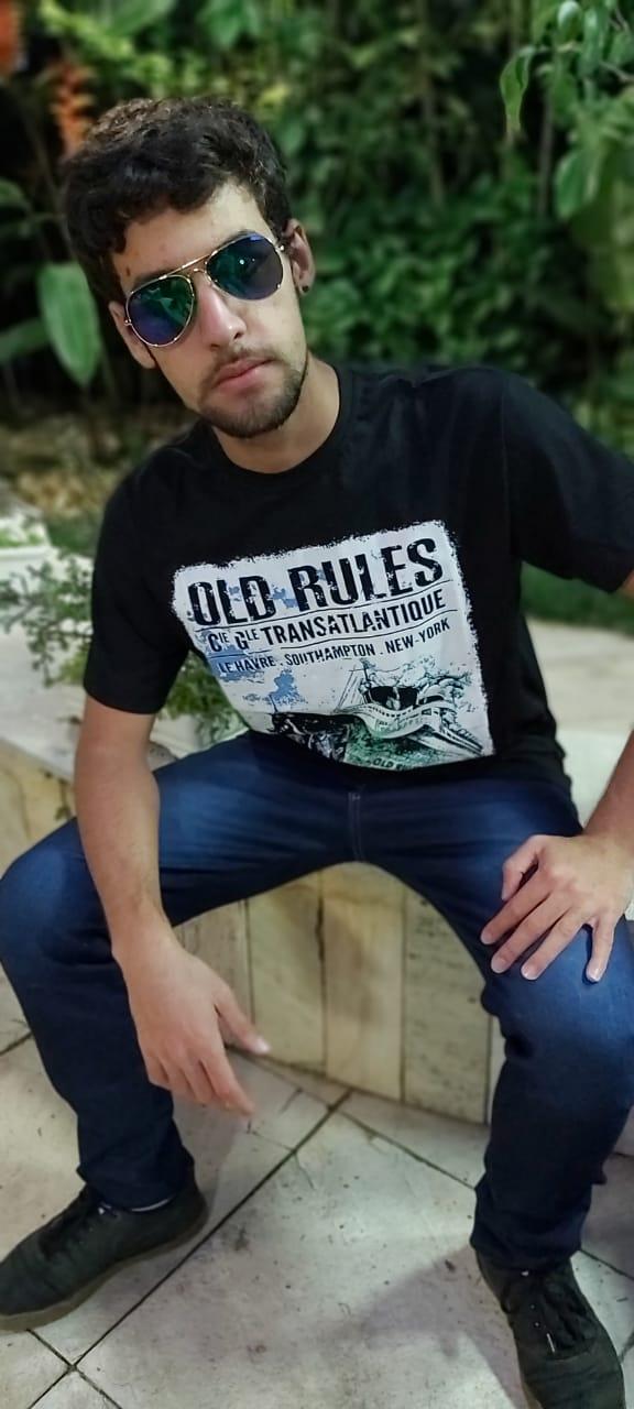 Camiseta Masculina Preto Manga Curta 700107