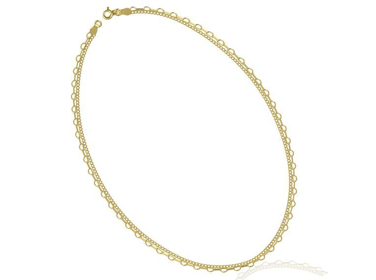 Choker  Coração GC Folheado a Ouro AT0922CHDR 20 cm