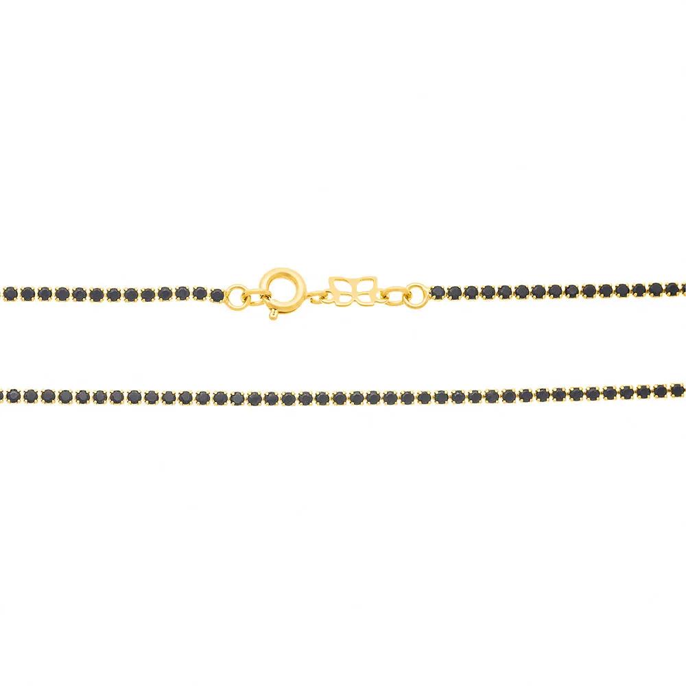 Choker feminino rommanel 531934 cristal preto gio antonelli med. 34 cm