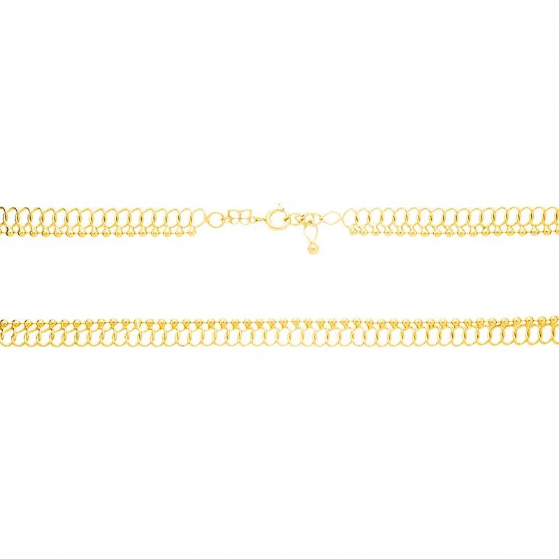 Choker rommanel 531981 fio entrelaçado med. 35 cm