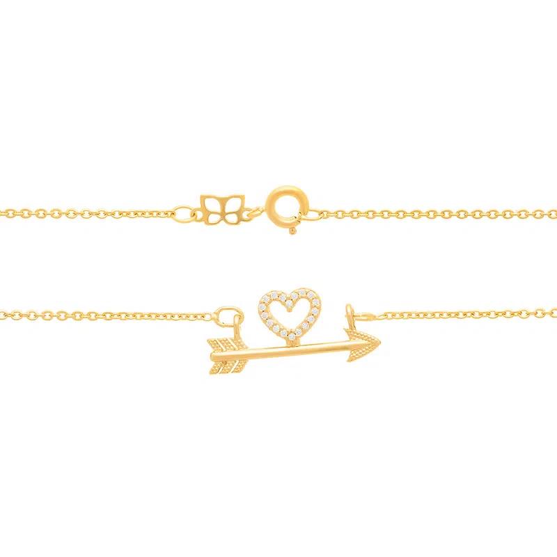Colar Rommanel 531906 Amor folheado a ouro