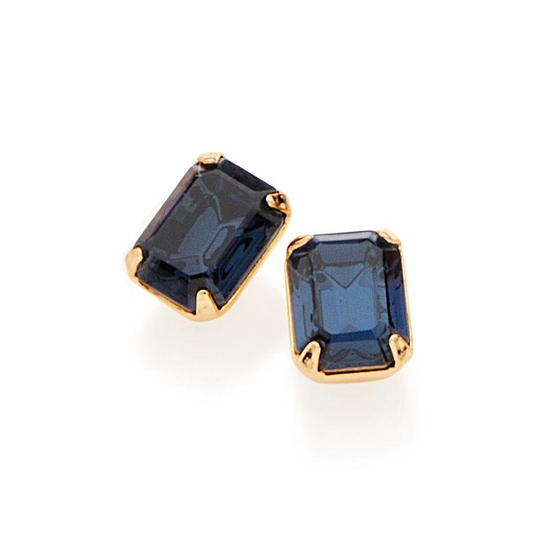 Brinco Rommanel cristal quadrado 52057704