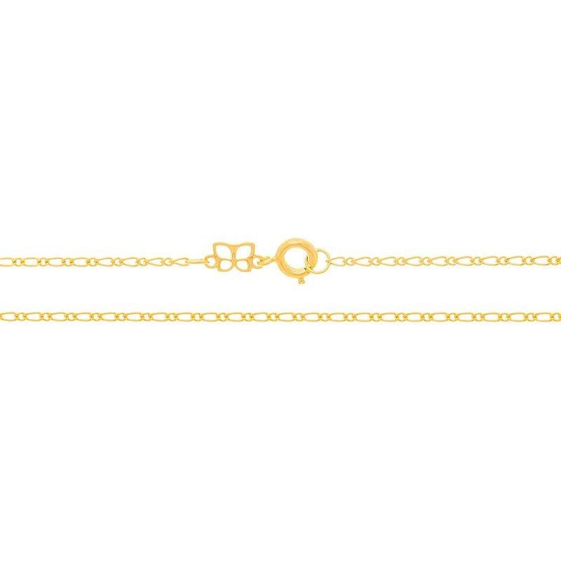 Cordão folheado a ouro elo alternado e lixado rommanel 530147 med. 50 cm