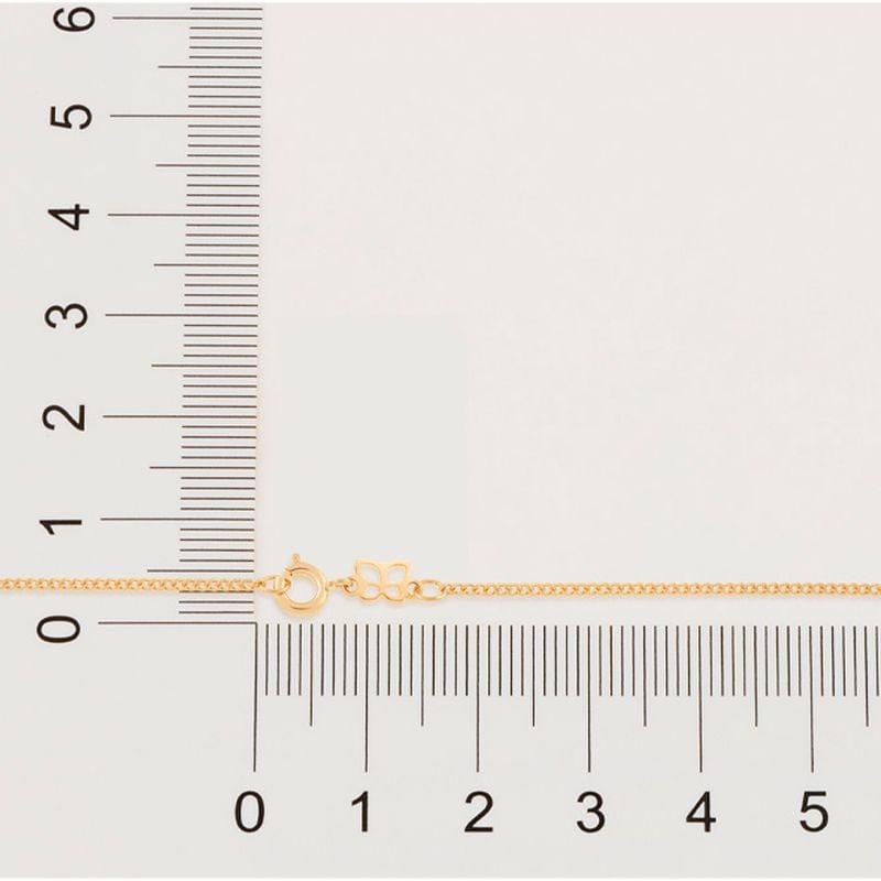Cordão folheado a ouro fio grumet lixado Rommanel 530294 med. 50 cm