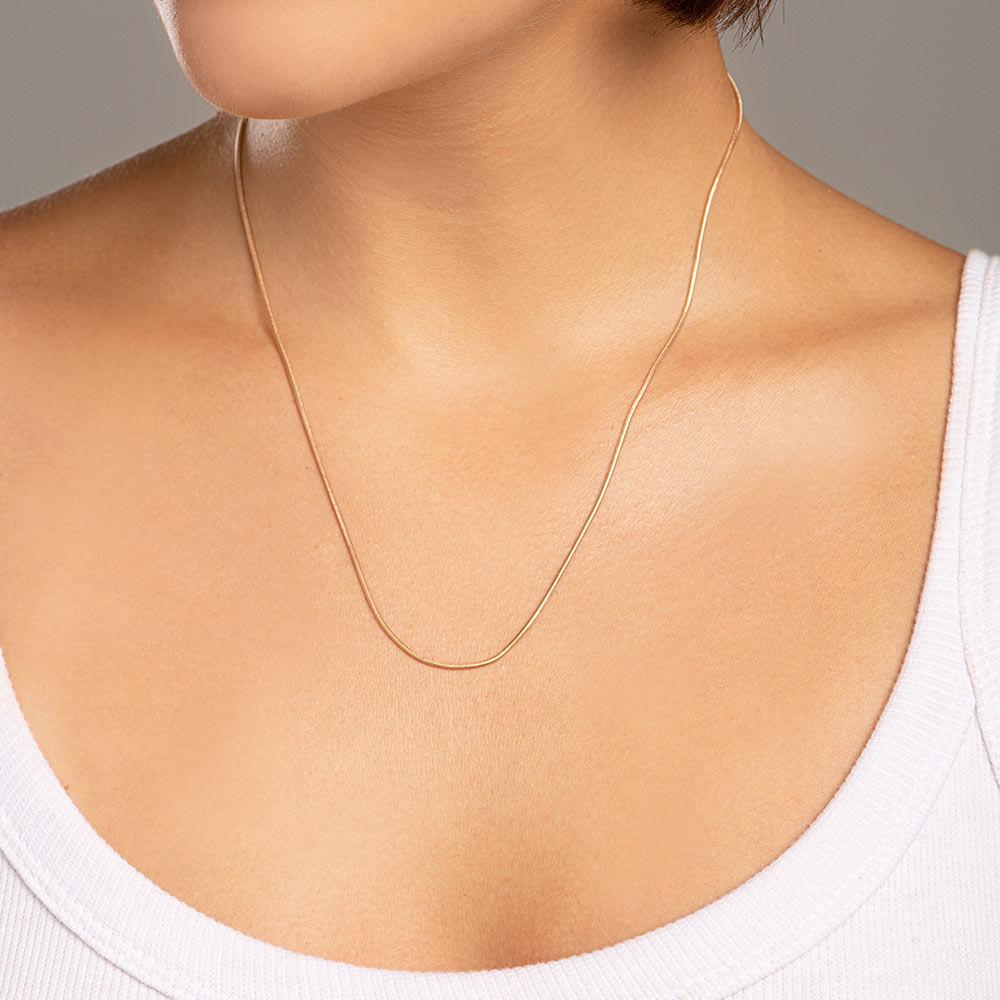 Cordão folheado a ouro fio rabo de rato Rommanel 530548 med. 50 cm