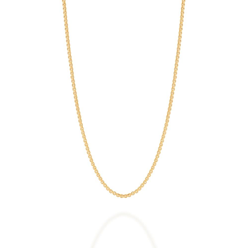 Cordão folheado a ouro fio veneziana Rommanel 530165 med. 50 cm