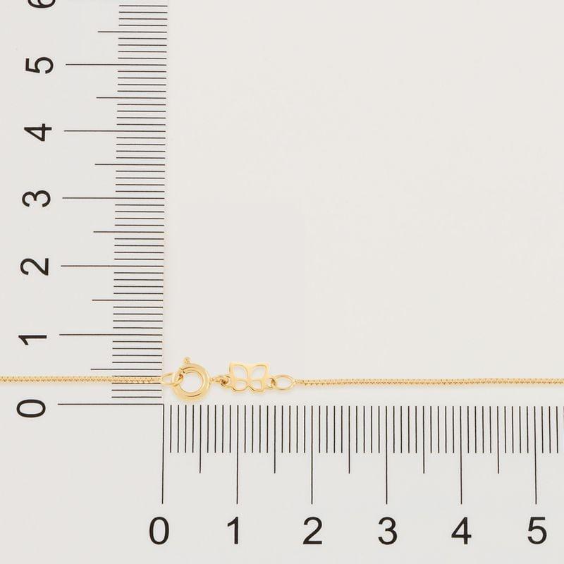 Cordão folheado a ouro fio veneziana rommanel  531311med. 50 cm