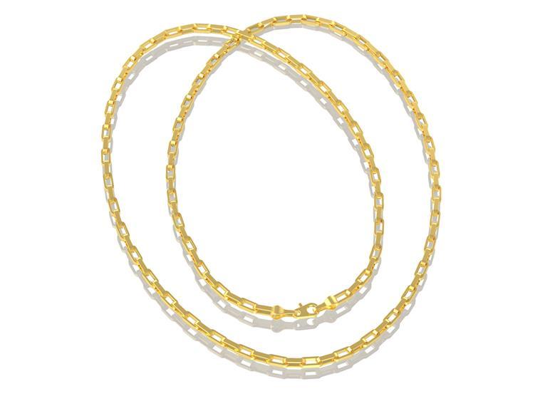 Corrente Cartier GC Folheado a Ouro AT0910CRDR6 med. 60 cm