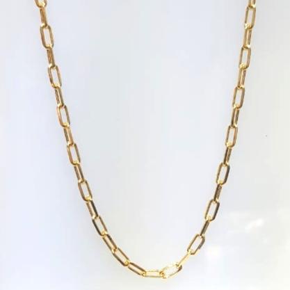 Corrente Elo Cartier GC Folheaado Ouro med. 60 cm AT0911CRDR6