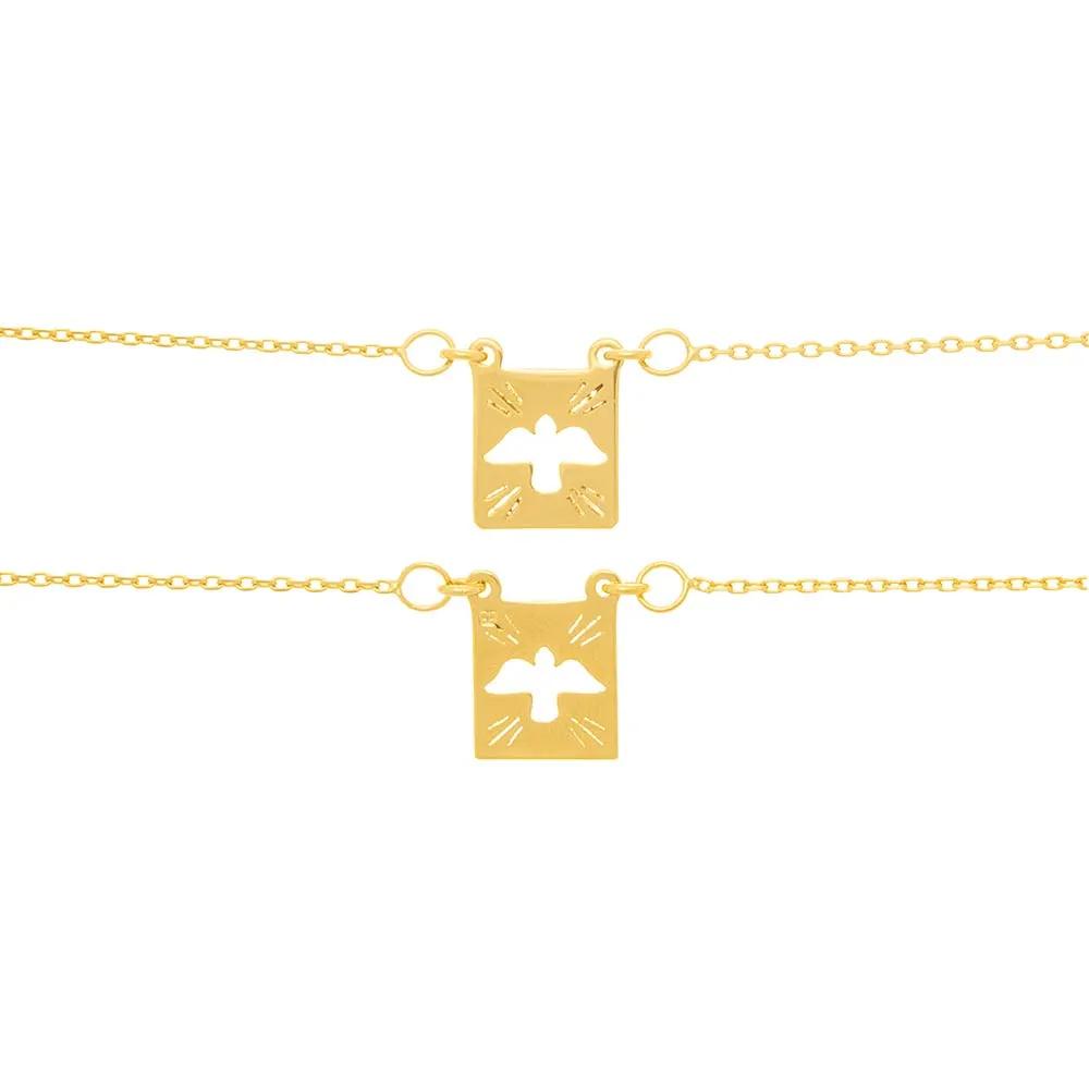 Escapulário feminino rommanel 531530 espírito santo med. 68 cm
