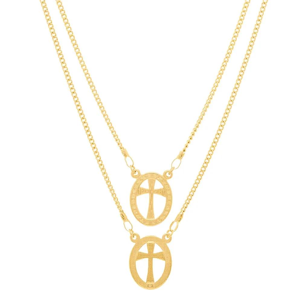 Escapulário feminino rommanel 531750 cruz med. 68 cm