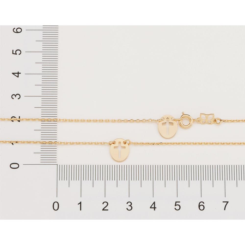 Escapulário rommanel Infantil folheado a ouro  532010 med. 49 cm