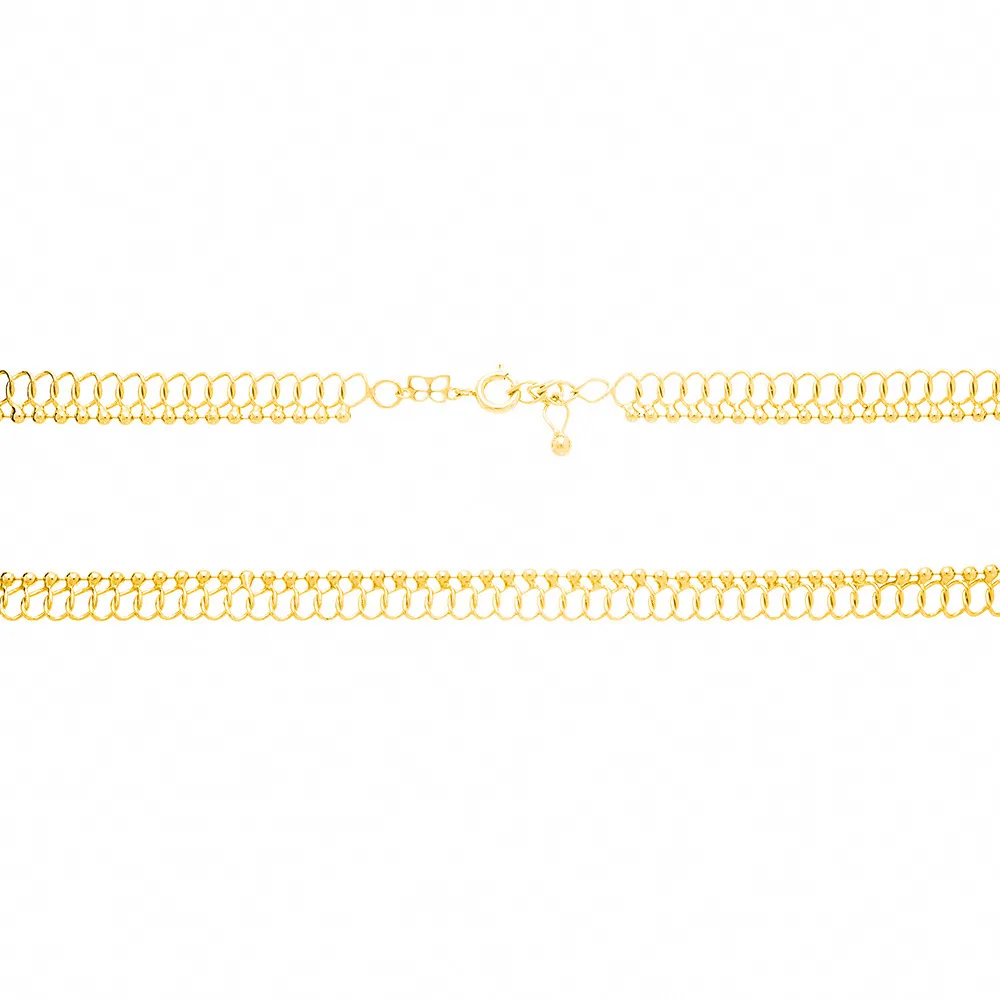 Gargantilha Choker feminino rommanel 531982 fio entrelaçado