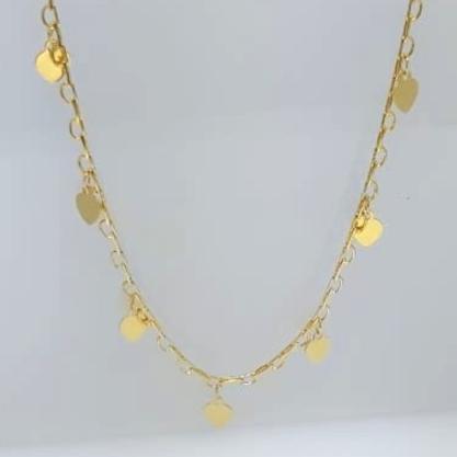 Gargantilha Coração GC Folheado a Ouro med. 45 cm AT0917GRDR4