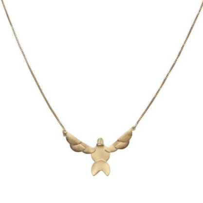 Gargantilha Divino Espírito Santo Origami Folheado a Ouro CR3928GRDR