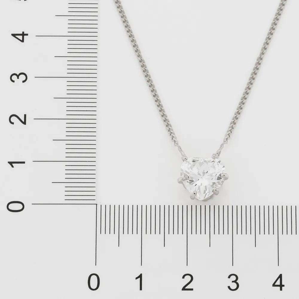 Gargantilha feminina rommanel 130460 rhodium zircônia coração gio antonelli med.50 cm