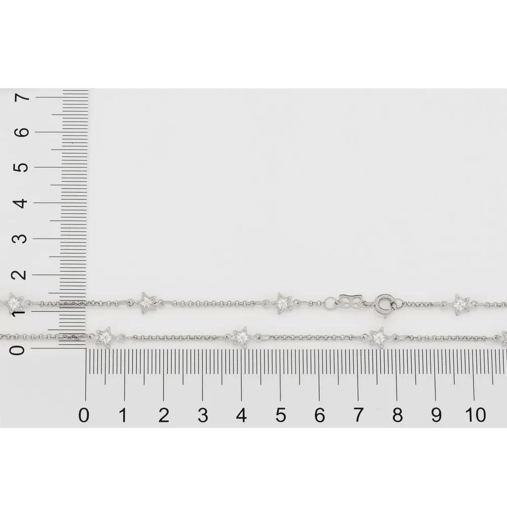 Gargantilha feminina rommanel 130462 rhodium gravata gio antonelli  med. 50 cm
