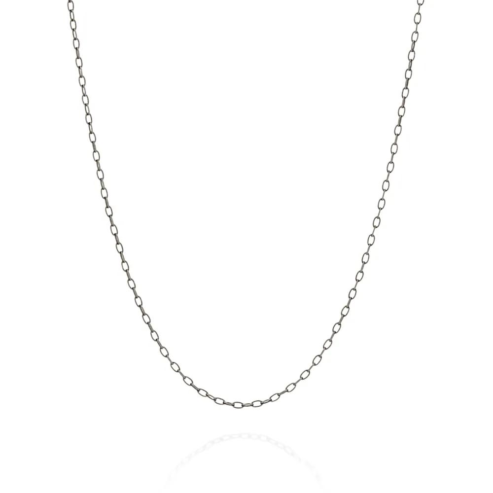 Gargantilha feminina rommanel 430031 rhodium negro med. 50 cm