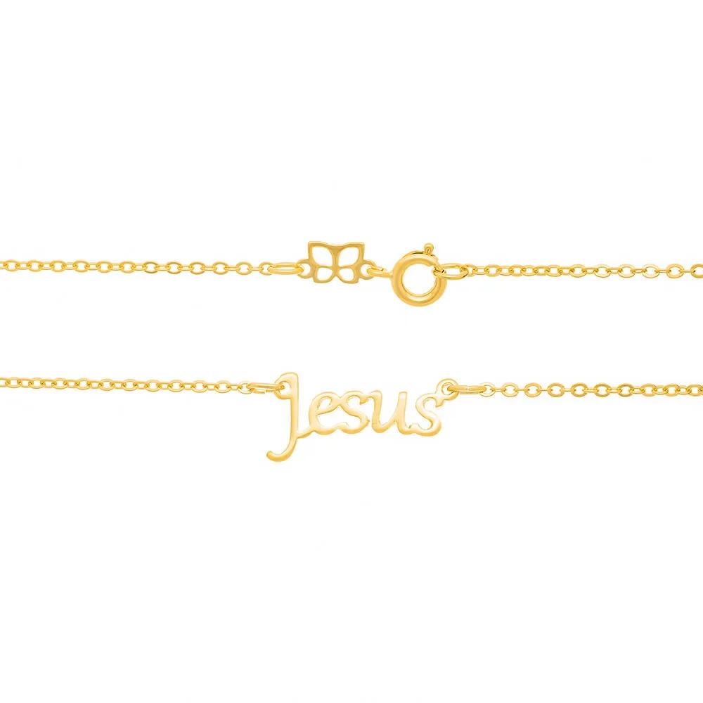 Gargantilha feminina rommanel 531843 escrita jesus med.50 cm