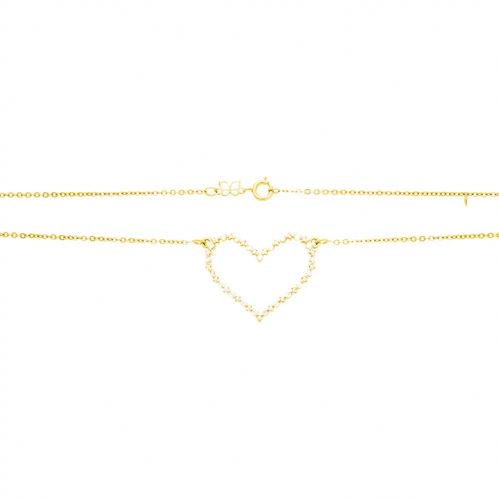 Gargantilha Rommanel 531977 coração med. 50 cm