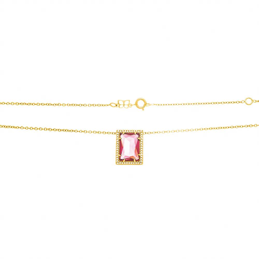 Gargantilha feminina rommanel 531983 com cristais e zircônias