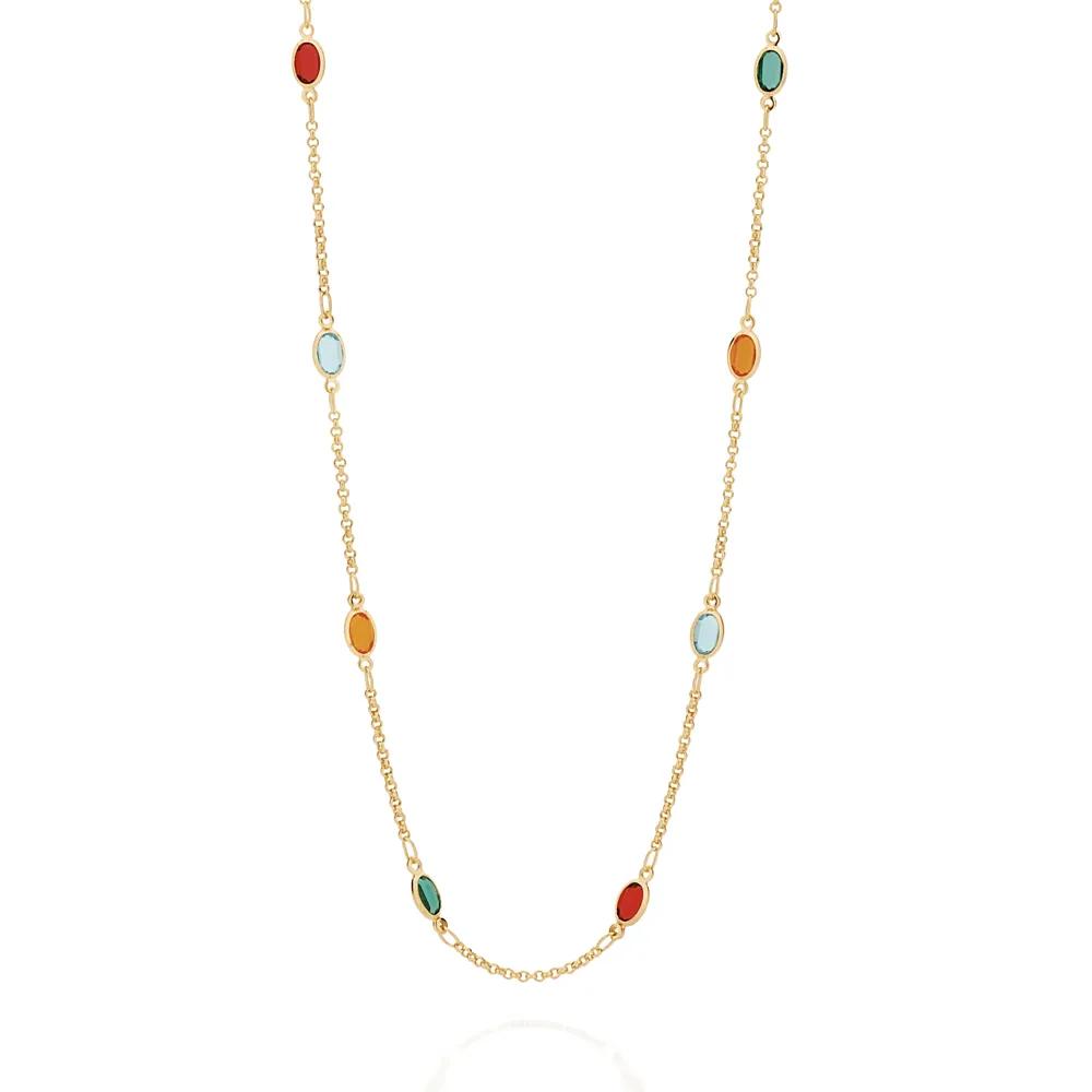 Gargantilha Rommanel 531986 com cristais coloridos ana hickmann