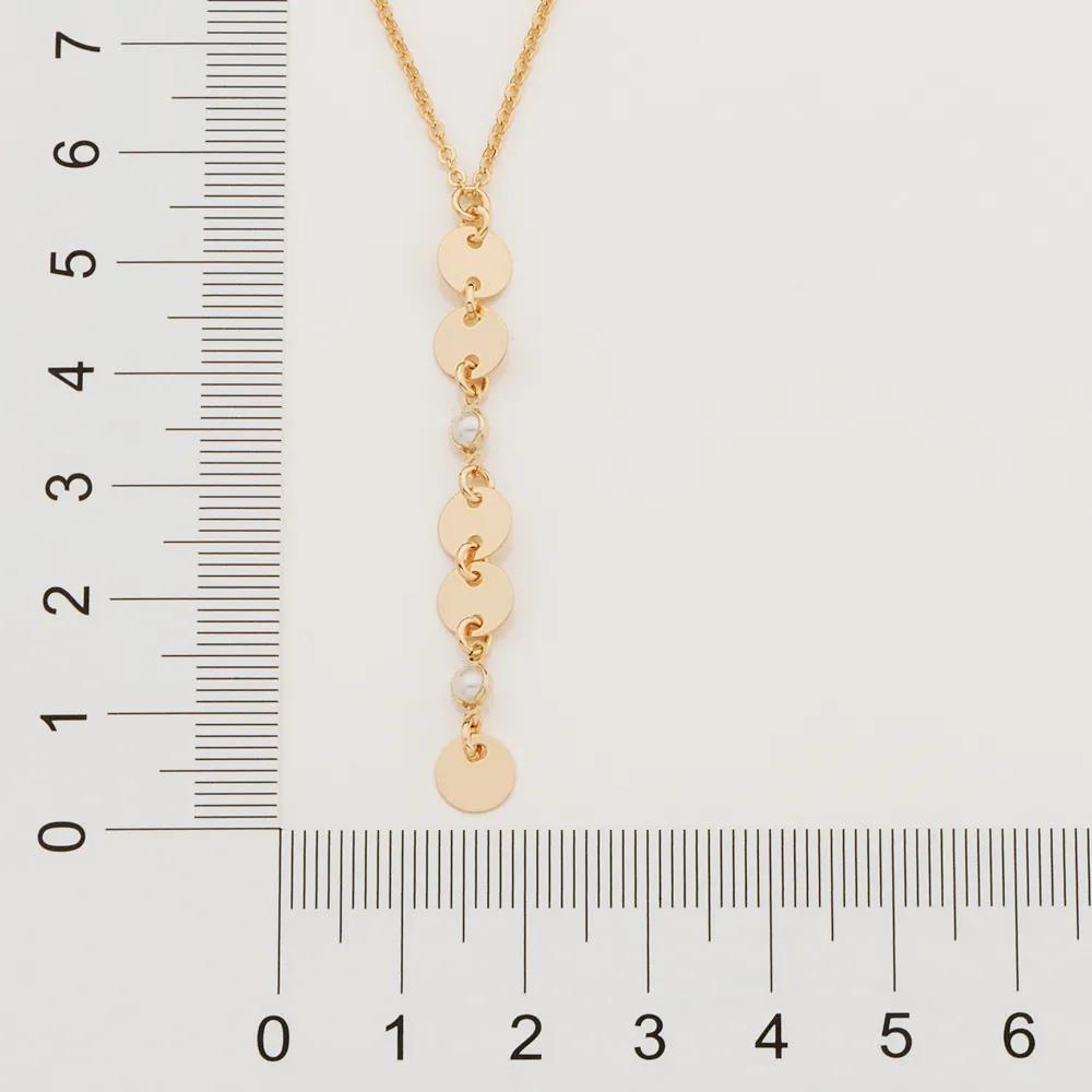 Gargantilha Rommanel 532020 gravata com pérolas Simone &Simaria med. 50 cm