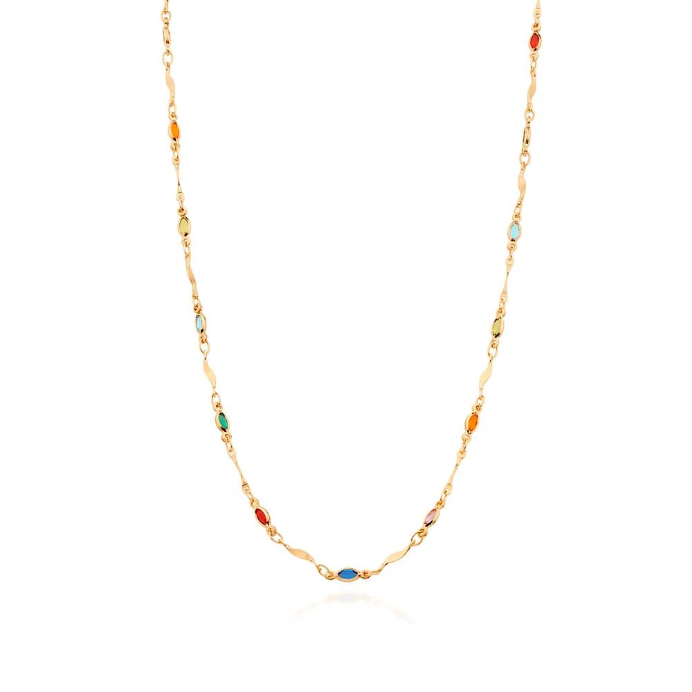 Gargantilha Rommanel cristais coloridos 531994 ana hickmann