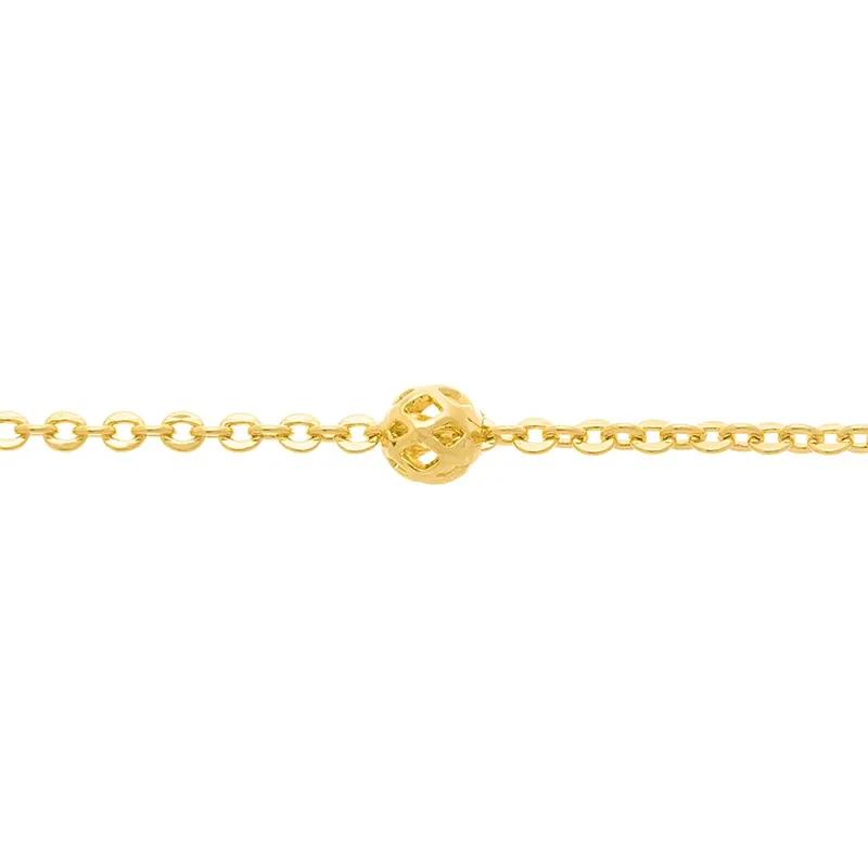 Gargantilha Rommanel 530679 Fio Cadeado com Globos Vazados Med.42 cm
