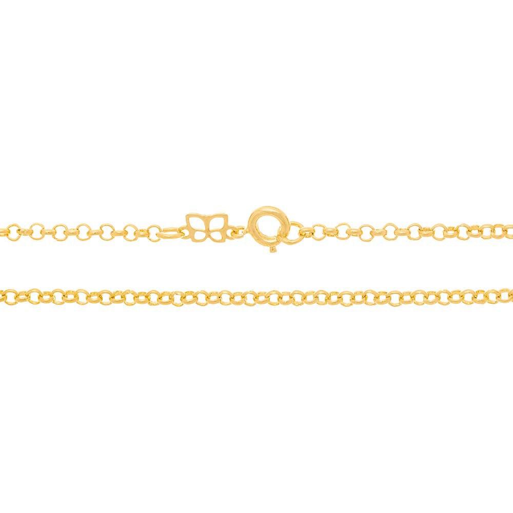 Gargantilha folheada a ouro fio elo português rommanel 530676 med. 40 cm