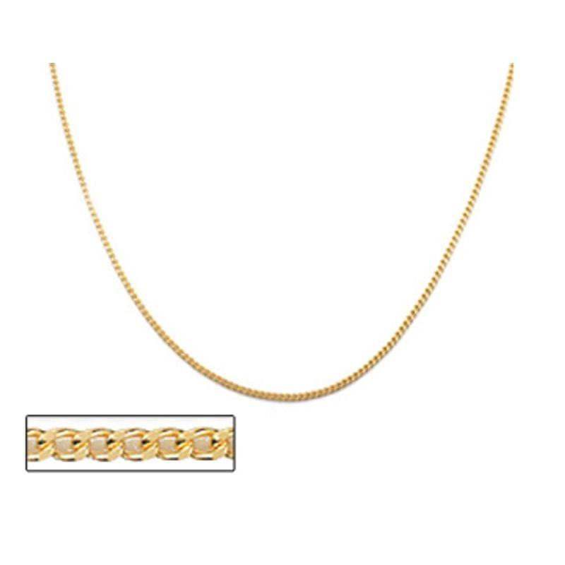 Gargantilha folheada a ouro fio grumet lixado rommanel 531098 med. 40 cm