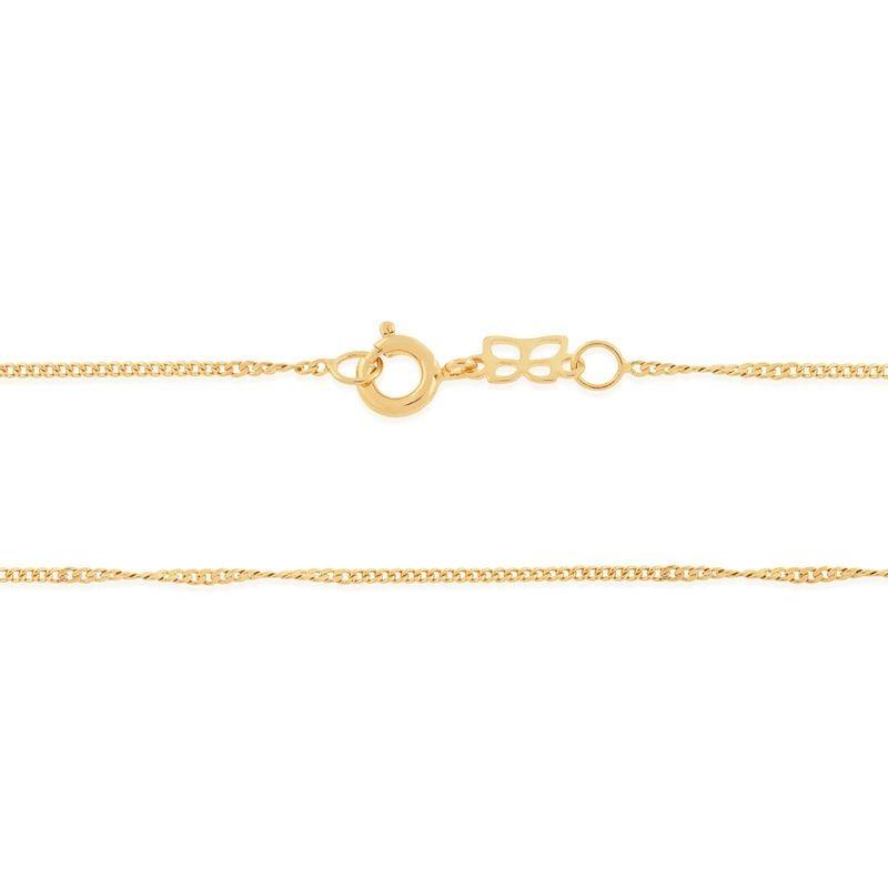 Gargantilha folheada a ouro fio grumet rommanel 530694 med. 42 cm