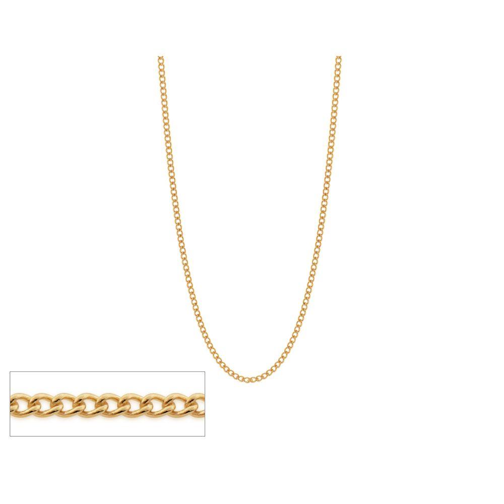 Gargantilha folheada a ouro fio grumet Rommanel 531665 med. 42 cm